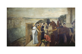 Semiramis Building Babylon, 1861 Giclee Print by Edgar Degas