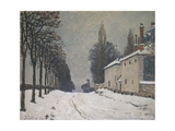 Road under Snow, Near Louveciennes, 1874 Prints by Alfred Sisley