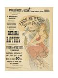 Plakat Fuer Eine Ausstellung Russischer Und Franzoesischer Kuenstler, 1898 Prints by Alphonse Mucha