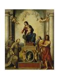 The Madonna of Saint Francis, 1514-15 Poster by  Correggio
