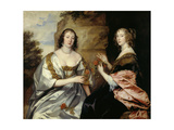 Die Ladies Morton Und Killigrew, Um 1638 Poster by Anthonis van Dyck