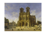 Reims Cathedral, 1833 Giclee Print by Domenico Quaglio