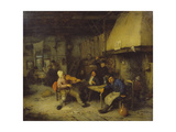 Violin Player and Drinking Peasants in a Tavern, 1663 Giclee Print by Adriaen Van Ostade