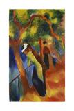 Sunny Path, 1913 Giclée-tryk af August Macke