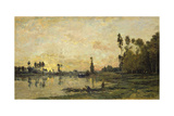 Sunset on the Oise, 1865 Giclee Print by Charles-François Daubigny