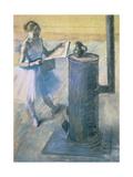 Dancer Reading the Newspaper, C. 1880 Giclée-Druck von Edgar Degas