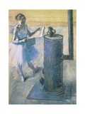 Dancer Reading the Newspaper, C. 1880 Giclee Print by Edgar Degas