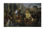 The Entrance of Alexander the Great into Babylon, C. 1673 Giclee Print by Charles Le Brun