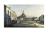 The Neue Markt in Dresden, 1747-1755 Giclee Print by  Canaletto