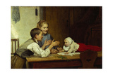 Three Siblings Giclee Print by Albert Anker