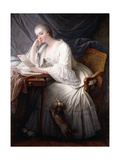 Reading (La Lecture) Giclee Print by Charles François Hutin