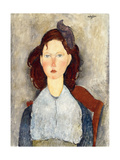 Seated Girl (Fillette Assise), 1918 Stampa giclée di Amadeo Modigliani