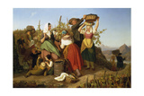 Grape Harvest, 1842 Giclee Print by Adolf Richter