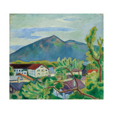 Spring Landscape in Tegernsee, 1910 Giclee Print by August Macke