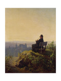 Peaceful Evening Gicleetryck av Carl Spitzweg