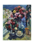 Roses and Different Vessels (Gursup), 1916 Giclee Print by Alexejew Konstantin Korovin