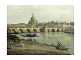 View of Dresden from the Right Bank of the River Elbe Downriver of the Augustusbruecke, 1748 Giclee Print by  Canaletto
