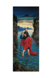 Saint Christopher, Right Panel of the Altar Perle Von Brabant Giclee Print by Dieric D.J. Bouts
