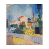 The Light House (1, Version), 1914 Giclée-tryk af August Macke