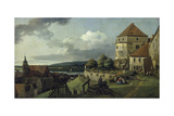 Pirna Seen from Sonnenstein Castle, Between 1753-55 Giclee Print by  Canaletto