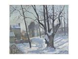 Snow Landscape in Louveciennes (Louveciennes, Chemin De Creux, Louveciennes, Neige), 1872 Reproduction procédé giclée par  Canaletto