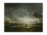 Moonlit Landscape Giclee Print by Aert van der Neer