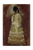 Lady with Opera Glasses, 1879-80 Giclee Print by Edgar Degas