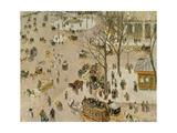 Paris, Place Du Theatre, 1898 Giclee Print by Camille Pissarro