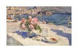 Blumenstrauss Und Fruechteteller Am Meeresstrand, 1910 Giclee Print by Alexejew Konstantin Korovin