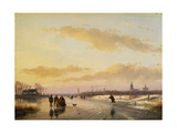 Enjoying the Ice, 1855 Giclee Print by Andreas Schelfhout