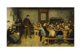 The Village School Giclee Print by Albert Anker