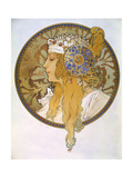 Medaillon with Portrait of a Blond Woman, 1897 Giclee Print by Alphonse Mucha