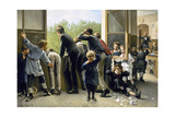 The Class Pranksters Giclee Print by Auguste Joseph Truphème