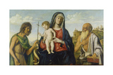 Virgin with Child Between John the Baptist and Jerome Giclee Print by Cima da Conegliano