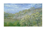 Trees in Blossom Giclee Print by Claude Monet