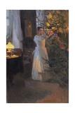 Decorating the Christmas Tree, 1910 Reproduction procédé giclée par Alexej Korin