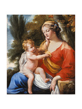 Madonna and Child in a Landscape Giclee Print by Charles Poerson
