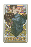 Plate 47 from the Book 'Documents Decoratifs', Published in 1902 Prints by Alphonse Mucha