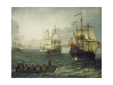 Meereslandschaft Mit Segelschiffen Giclee Print by Abraham Willaerts