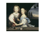 The Siblings Winston and Arabella Churchill Giclee Print by Sir Anthony Van Dyck