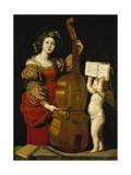 St. Cecilia, C. 1620 Giclee Print by Domenico Zampieri