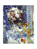Flowers and Fruit on a Garden Table, 1911-1912 Giclee Print by Alexejew Konstantin Korovin