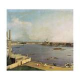 London, Thames and City as Seen from the Richmond House, 1746-1747 Giclee Print by  Canaletto