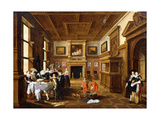 A Merry Company in an Interior Arte por Dirck Hals