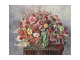 Basket of Flowers, 1890 Giclee Print by Pierre-Auguste Renoir