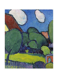 Big Clouds, Big Trees, 1909 Giclée-Druck von Alexej Von Jawlensky