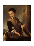 Boy with a Dog, Between 1655 and 1660 Giclee Print by Bartolomé Estéban Murillo