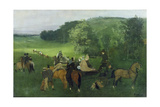 At the Racecourse, 1860-62 Giclee Print by Edgar Degas