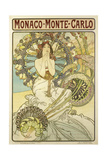 Poster for the Railway Company 'Chemin De Fers P.L.M.', 1897 Giclee Print by Alphonse Mucha