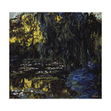 Meadow at Pond with Water Lilies, 1917-1919 Giclee Print by Claude Monet
